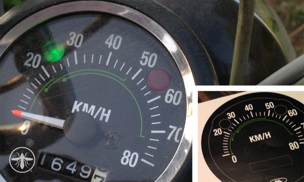 CT70 Speedometer Conversion – MPH to KM/H